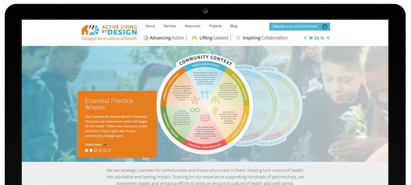 Active Living by Design web design by Kompleks Creative.