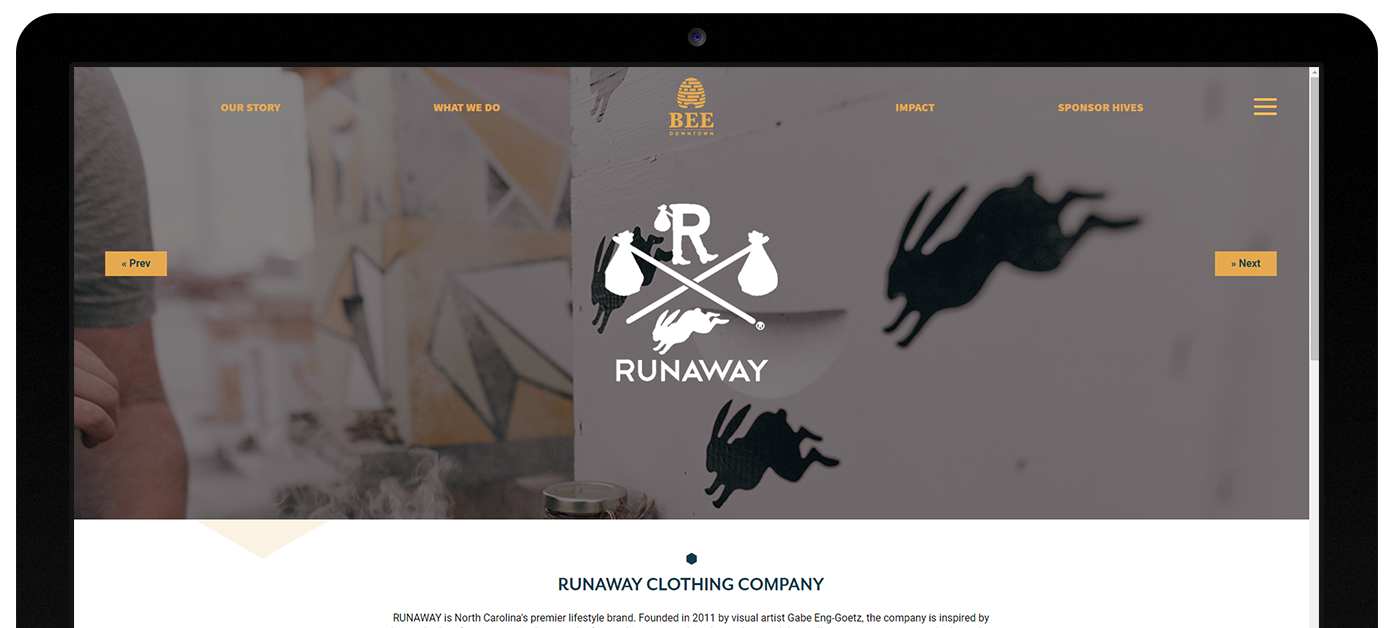 Bee Downtown web design by Kompleks Creative.