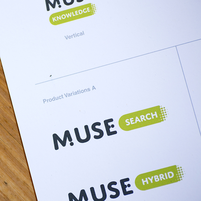 Muse Knowledge logo design product sheet by Kompleks Creative.