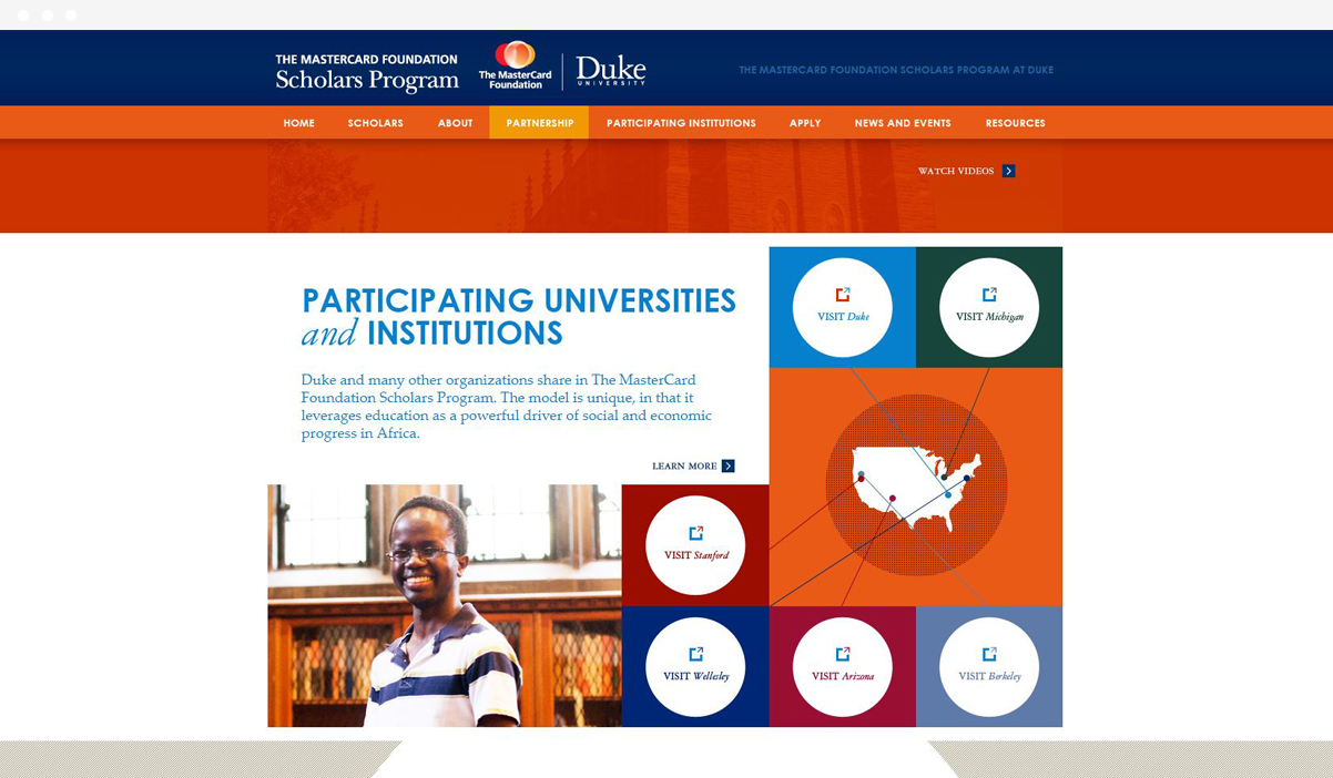 The Mastercard Foundation Scholars Program at Duke University web design by Kompleks Creative.