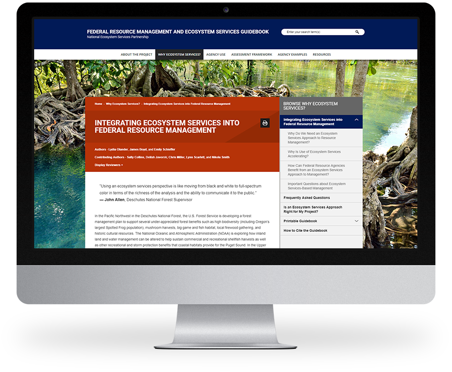 Duke Nicholas Institute for Environmental Policy Solutions web design by Kompleks Creative.