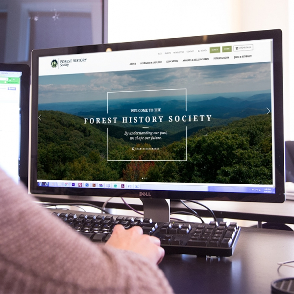 Forest History Society web design by Kompleks Creative.